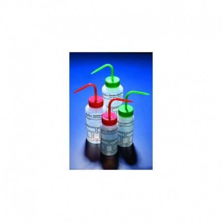 PISSETTE 250ML COL LARGE LDPE A PERSONNALISER BOUCHON BLANC AZLON x 5
